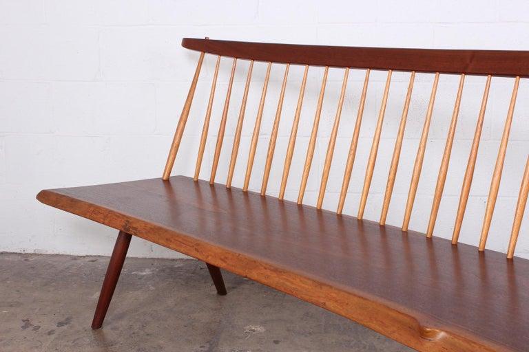 Walnut George Nakashima Bench, 1976 For Sale