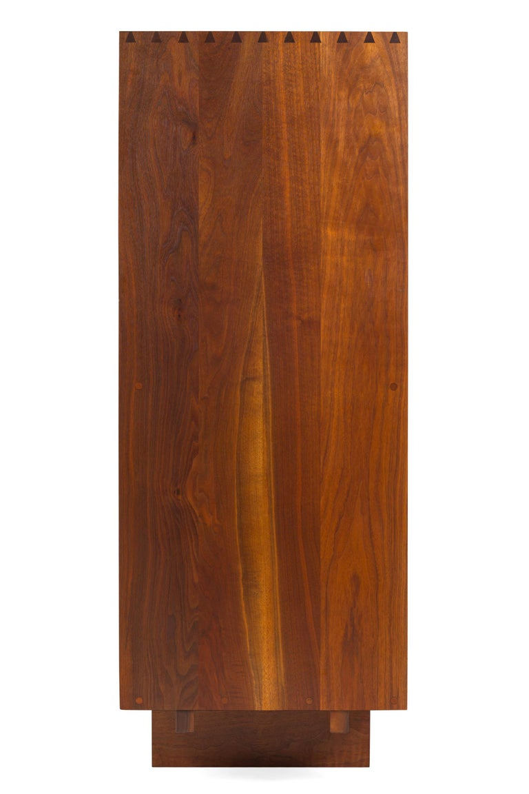 American George Nakashima Black Walnut Chest of Drawers with Dovetail Joinery, USA, 1960s For Sale
