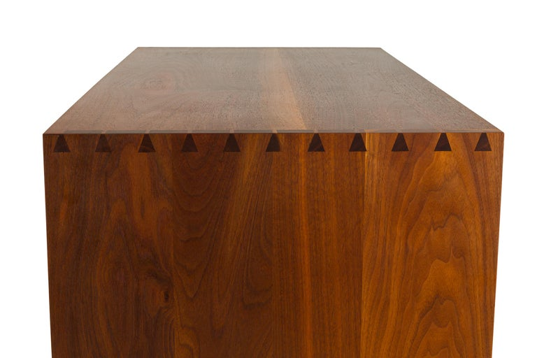 George Nakashima Black Walnut Chest of Drawers with Dovetail Joinery, USA, 1960s In Good Condition For Sale In New York, NY