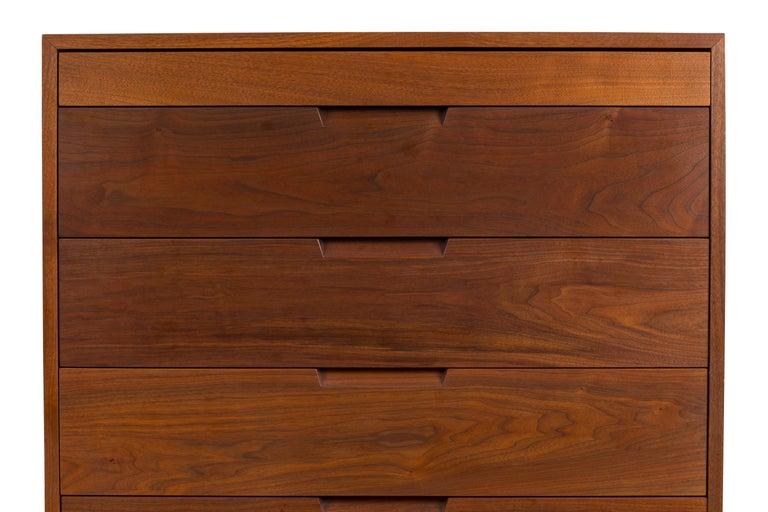 Mid-20th Century George Nakashima Black Walnut Chest of Drawers with Dovetail Joinery, USA, 1960s For Sale