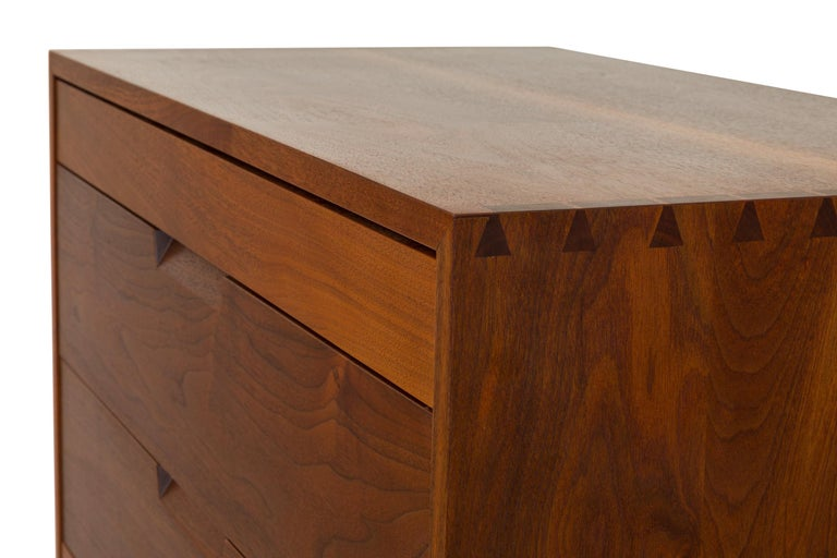 George Nakashima Black Walnut Chest of Drawers with Dovetail Joinery, USA, 1960s For Sale 1