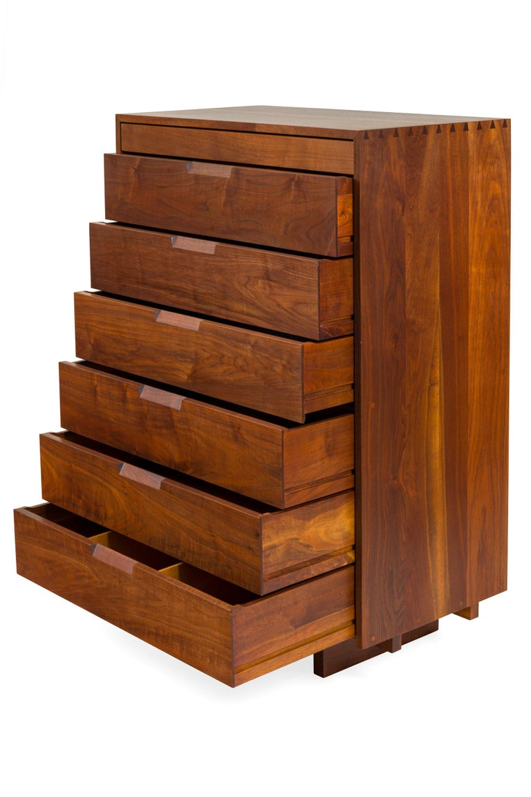 George Nakashima Black Walnut Chest of Drawers with Dovetail Joinery, USA, 1960s For Sale 3