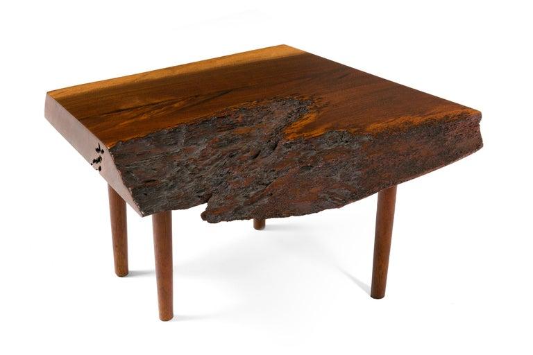 George Nakashima Black Walnut Free Edge Two-Tier End Tables, USA 1956 For Sale 5