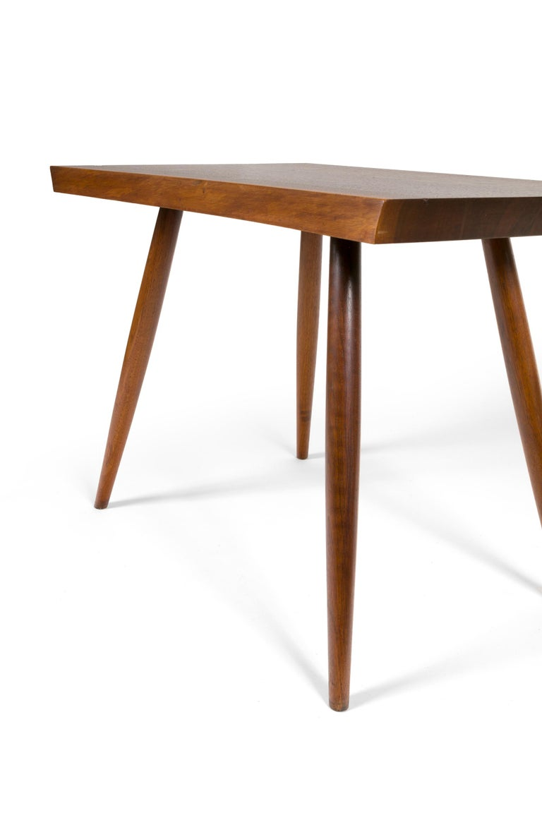 George Nakashima Black Walnut Free Edge Two-Tier End Tables, USA, 1950s For Sale 9