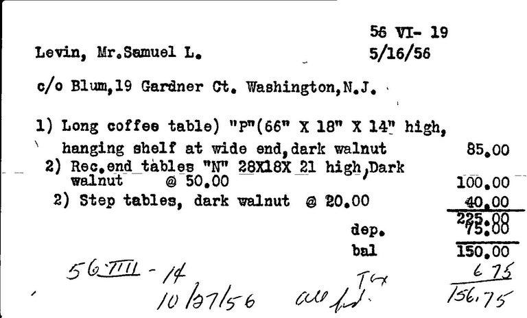 George Nakashima Black Walnut Free Edge Two-Tier End Tables, USA 1956 For Sale 10
