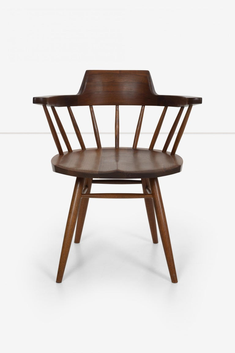 Mid-Century Modern George Nakashima Captains Chair Nakashima Studio For Sale
