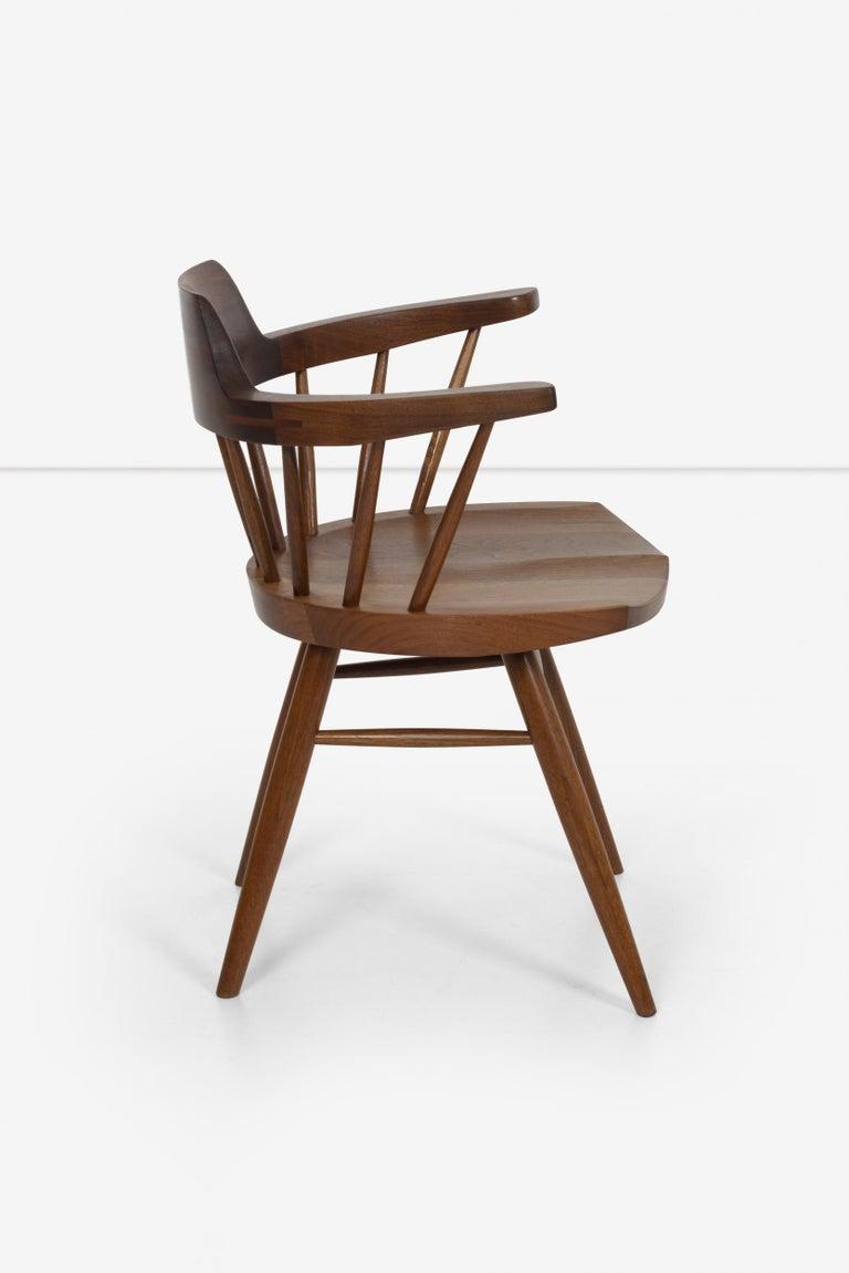 Oiled George Nakashima Captains Chair Nakashima Studio For Sale