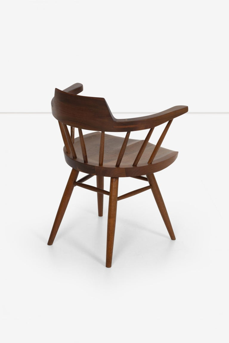 George Nakashima Captains Chair Nakashima Studio In Good Condition For Sale In Chicago, IL