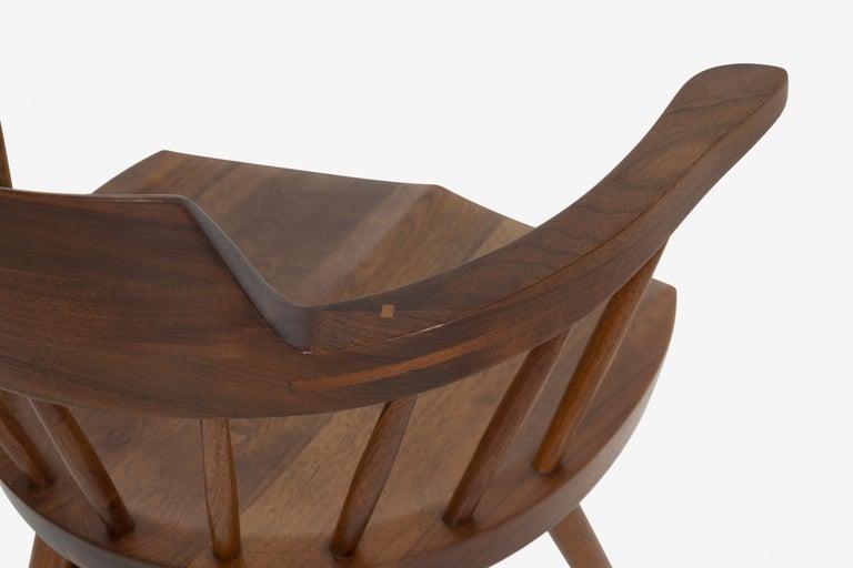 Walnut George Nakashima Captains Chair Nakashima Studio For Sale