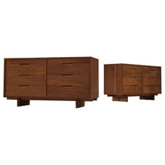 George Nakashima Chests of Drawers in Walnut, 1955