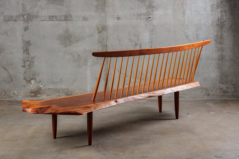 Mid-Century Modern George Nakashima 'Conoid' Bench For Sale