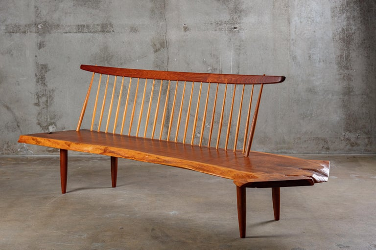 American George Nakashima 'Conoid' Bench For Sale
