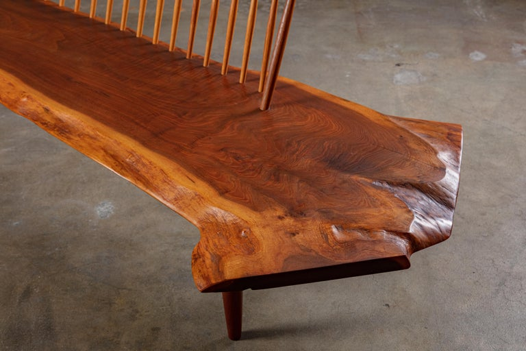 George Nakashima 'Conoid' Bench In Fair Condition For Sale In Los Angeles, CA