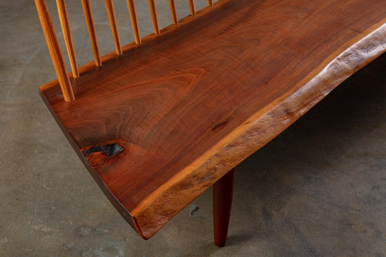 Late 20th Century George Nakashima 'Conoid' Bench For Sale