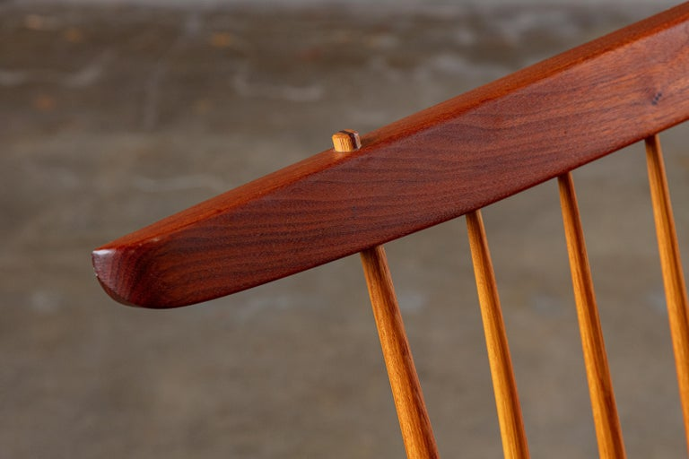 Hickory George Nakashima 'Conoid' Bench For Sale