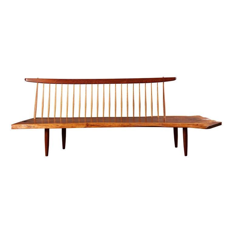 George Nakashima 'Conoid' Bench For Sale
