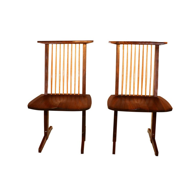 American George Nakashima Conoid Chairs For Sale