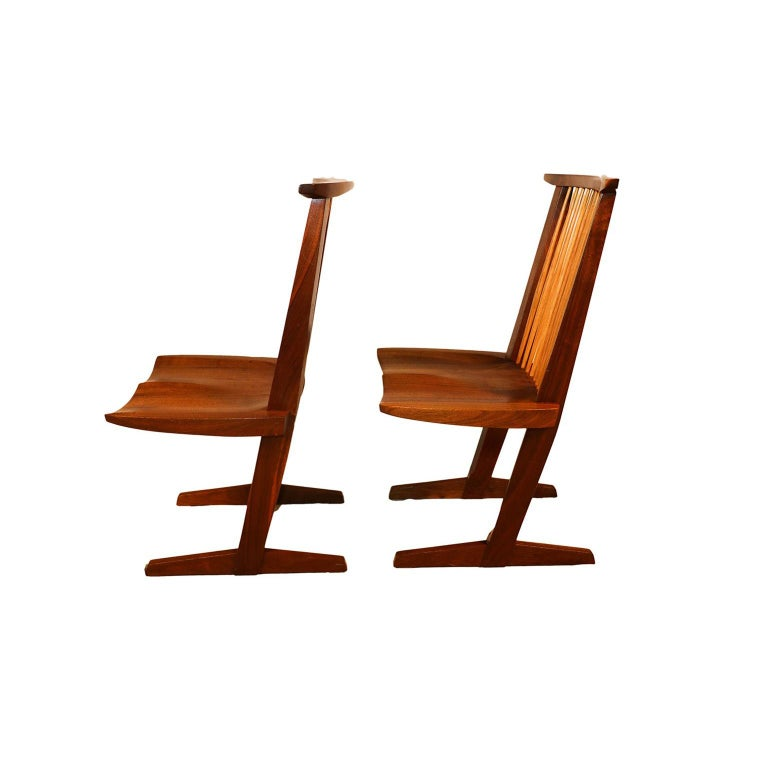 George Nakashima Conoid Chairs In Good Condition For Sale In Baltimore, MD