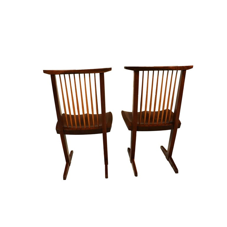 Late 20th Century George Nakashima Conoid Chairs For Sale