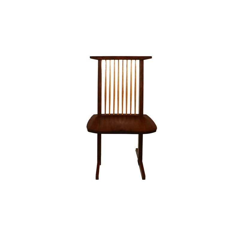 Teak George Nakashima Conoid Chairs For Sale