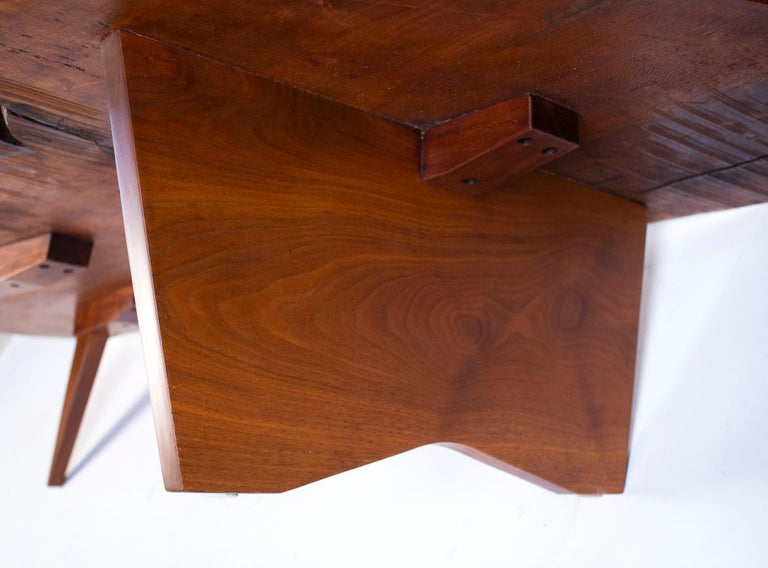 George Nakashima Conoid Coffee Table Free Edge English Walnut Slab, 1963 For Sale 5