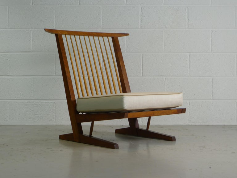 Mid-Century Modern George Nakashima, Conoid Lounge Chair For Sale