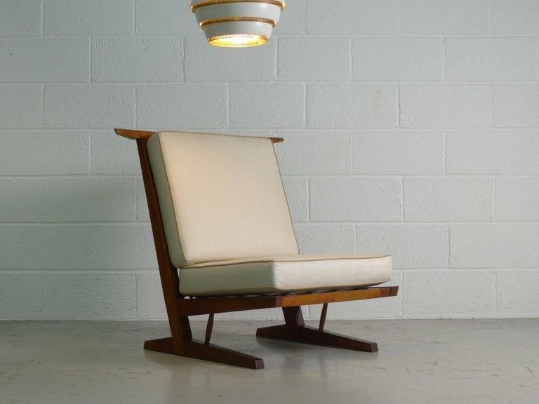 American George Nakashima, Conoid Lounge Chair For Sale
