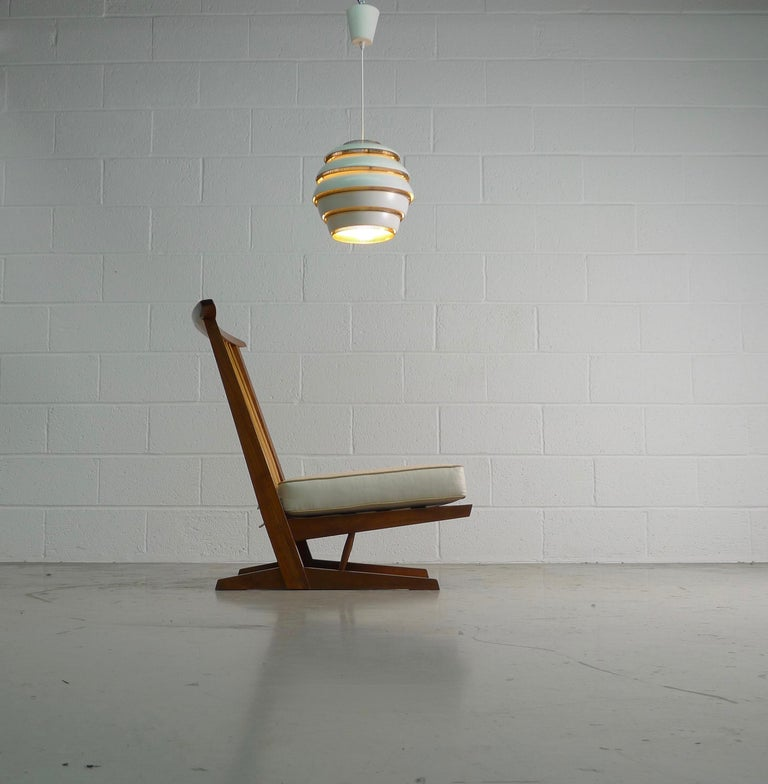 Late 20th Century George Nakashima, Conoid Lounge Chair For Sale