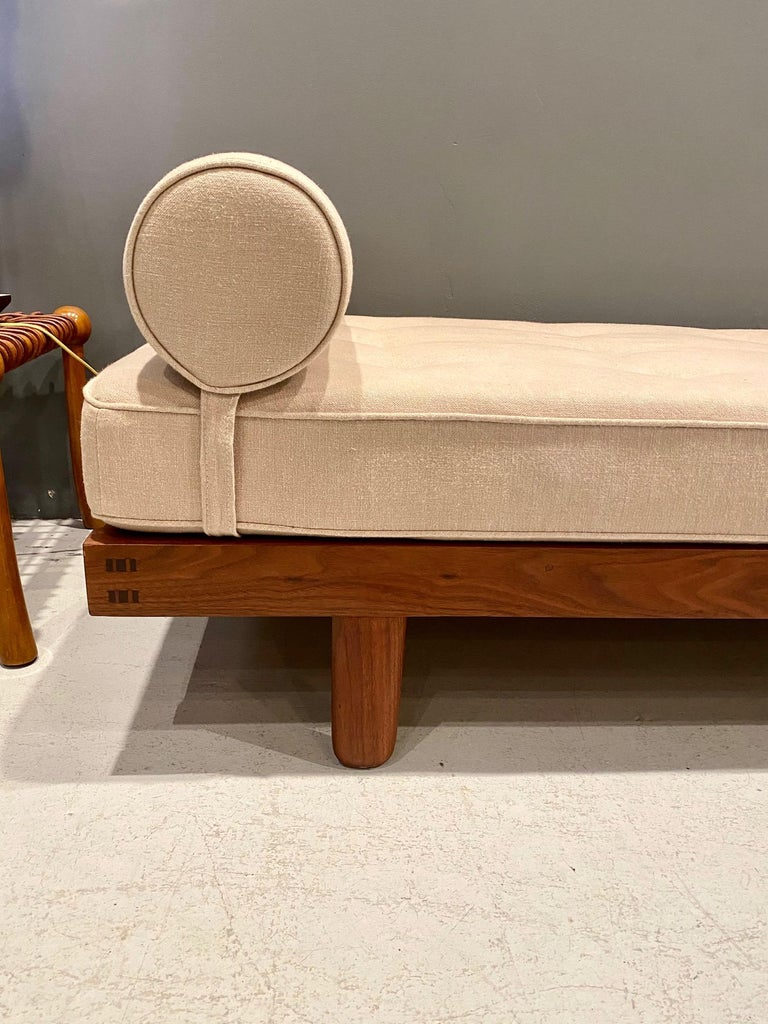 Upholstery George Nakashima Custom Daybed, 1950s For Sale