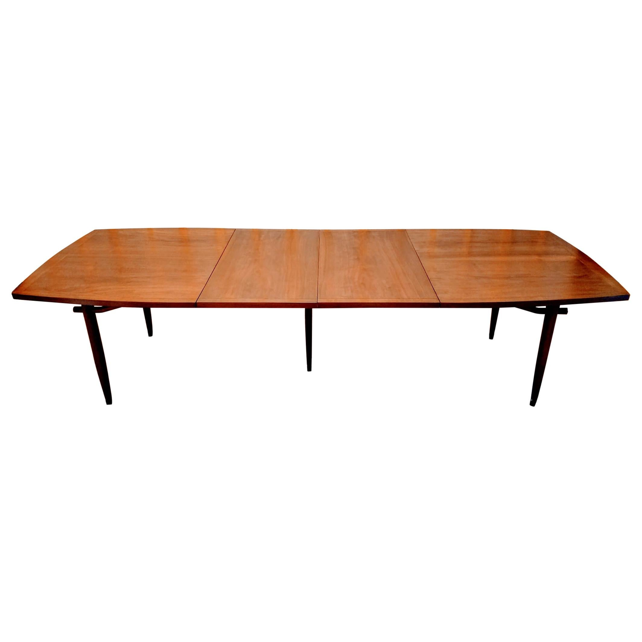 George Nakashima Dining Table Model 202 for Widdicomb 1959 Two Leaves