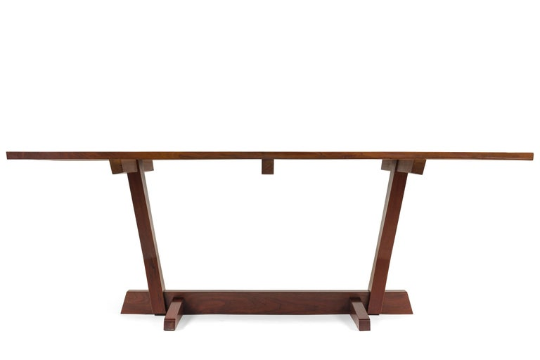Mid-20th Century George Nakashima Fine Walnut & Rosewood Conoid Dining Room Table, USA, 1965 For Sale