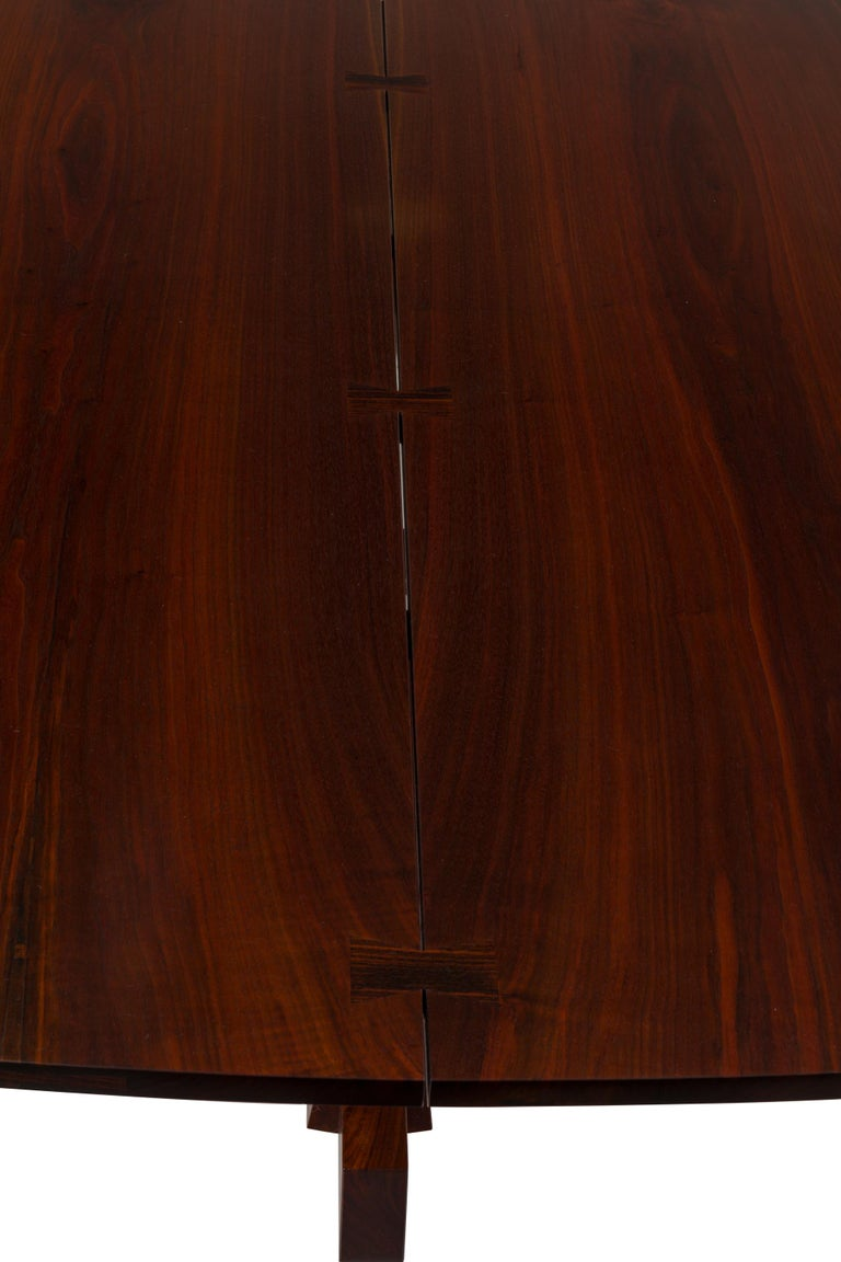 George Nakashima Fine Walnut & Rosewood Conoid Dining Room Table, USA, 1965 For Sale 1
