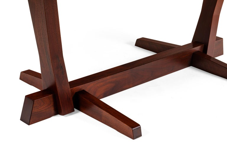George Nakashima Fine Walnut & Rosewood Conoid Dining Room Table, USA, 1965 For Sale 2