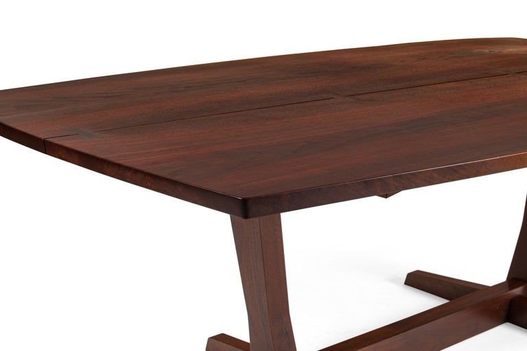 George Nakashima Fine Walnut & Rosewood Conoid Dining Room Table, USA, 1965 For Sale 3