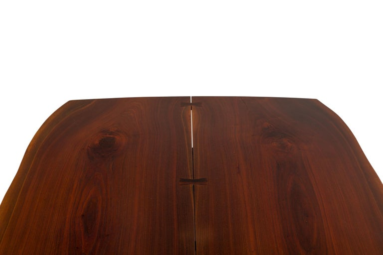 George Nakashima Fine Walnut & Rosewood Conoid Dining Room Table, USA, 1965 For Sale 4