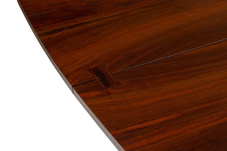 George Nakashima Fine Walnut & Rosewood Conoid Dining Room Table, USA, 1965 For Sale 5