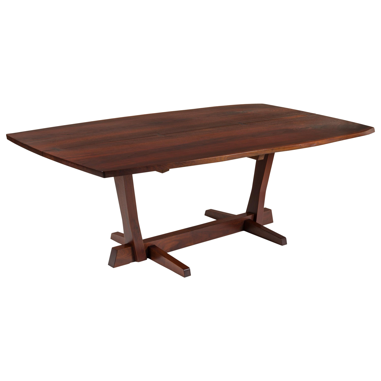 George Nakashima Fine Walnut & Rosewood Conoid Dining Room Table, USA 1965