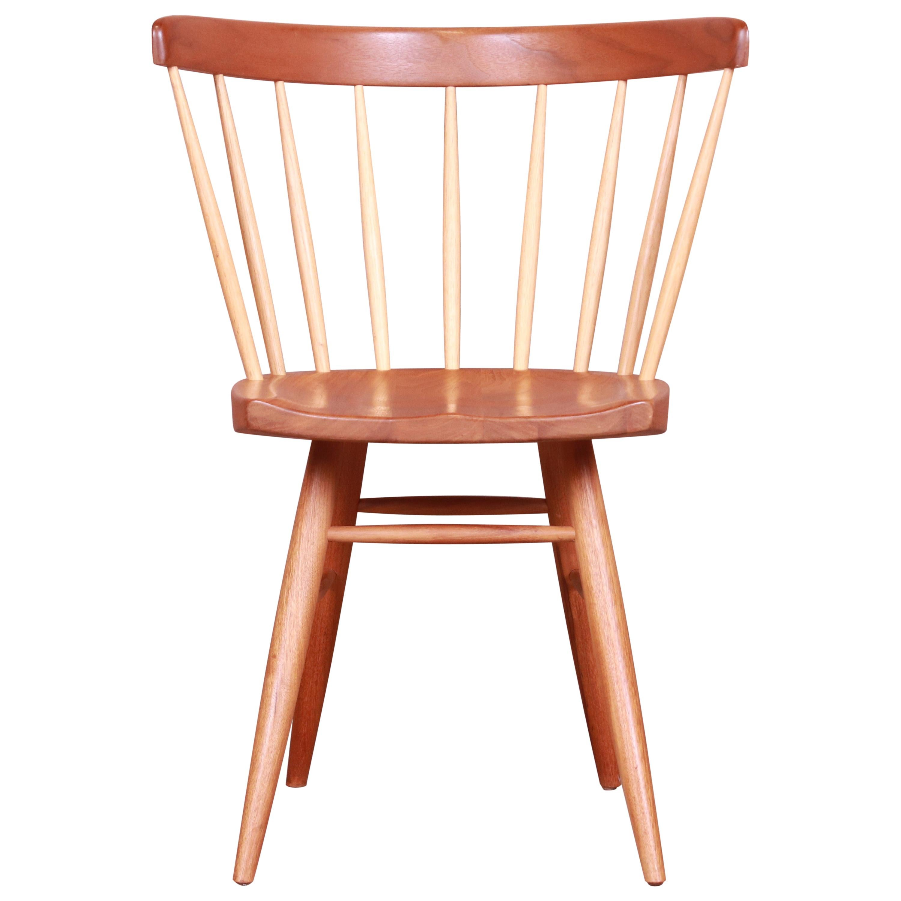 George Nakashima for Knoll Walnut and Hickory Windsor Straight Chair