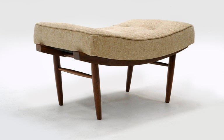 Mid-Century Modern George Nakashima for Widdicomb Low / Vanity Stool / Ottoman, Completely Original