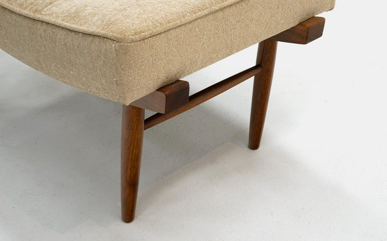 George Nakashima for Widdicomb Low / Vanity Stool / Ottoman, Completely Original In Good Condition In Kansas City, MO