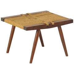 George Nakashima Grass Rope Seat Stool