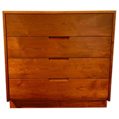George Nakashima Mid Century Four-Drawer Dovetailed Walnut Dresser