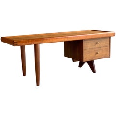 George Nakashima Model 217 Walnut and Oak Coffee Table by Widdicomb, USA, 1958