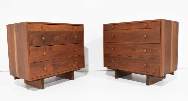 George Nakashima Pair of Chests in Black Walnut For Sale 4