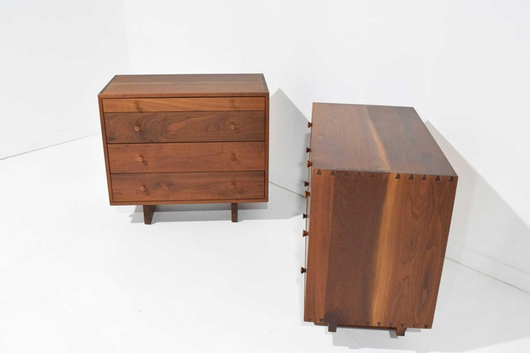 George Nakashima Pair of Chests in Black Walnut For Sale 5