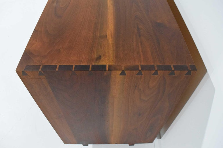 North American George Nakashima Pair of Chests in Black Walnut For Sale