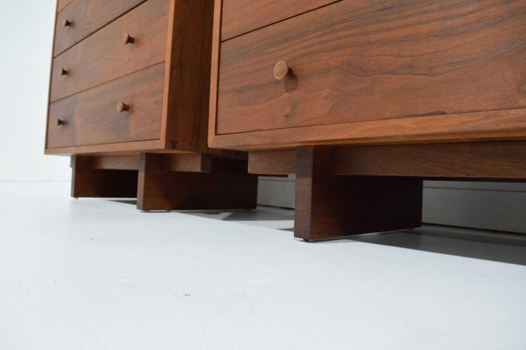 George Nakashima Pair of Chests in Black Walnut In Good Condition For Sale In Dallas, TX