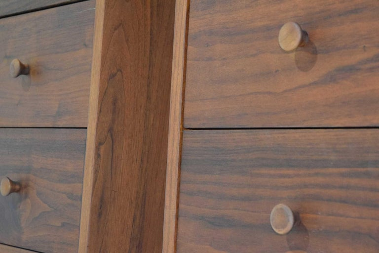 20th Century George Nakashima Pair of Chests in Black Walnut For Sale