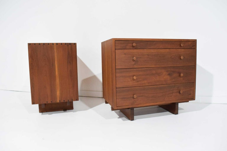 George Nakashima Pair of Chests in Black Walnut For Sale 1