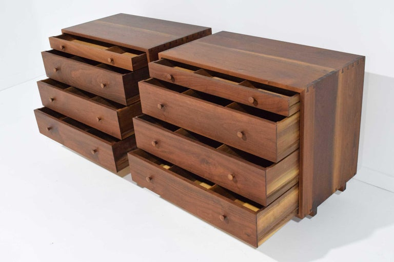 George Nakashima Pair of Chests in Black Walnut For Sale 2